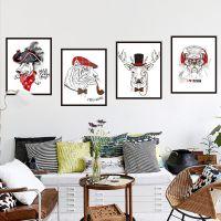 9280趣味动物头像墙贴纸卡通可爱儿童房间装饰品相框自粘墙纸贴画