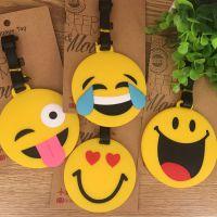 日韩原宿 笑脸可爱表情包 笑脸造型行李牌 箱包识别背包挂件