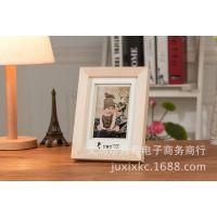 7寸实木摆台 影楼摄影 婚纱儿童相框 可印logo