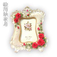 欧式玫瑰相框创意婚纱影楼相架高档酒店样品房装饰品促销礼品
