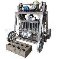 节能环保混凝土免烧砌块成型机设备不用托板半自动移动式空心砖机