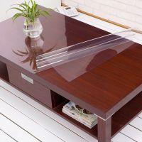 桌布防水防烫防油免洗PVC水晶软质玻璃透明磨砂茶几长方形正椭圆