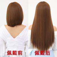 隐形发片真人发丝无痕接发假发可烫染垫增发量一片式长直发女真发