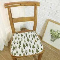 冬夏季两用凉席透气薄椅垫办公室椅子坐垫夏天棉麻简约家居靠垫子