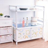 厨房微波炉柜储物柜铝合金碗柜餐边柜简易茶水柜厨房小柜子置物柜