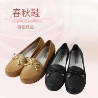 新款休闲舒适浅口单鞋简约蝴蝶结耐磨女单鞋透气防滑透气单鞋