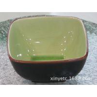 """5.5""""四方碗 陶瓷餐具创意冰裂釉碗日韩式个性面碗 汤碗微波炉饭碗"""