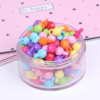 圆形单吊 糖果实色珠子塑料亚克力散diy手工串珠发饰品配件