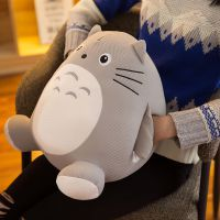 毛绒玩具创意新款多功能龙猫手暖软体抱枕卡通暖手捂玩偶一件代发