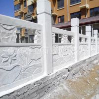 定制寺院大理石围栏汉白玉栏杆户外河道寺庙石材护栏