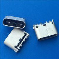 TYPE C USB 3.1短体夹板母座夹板1.0总长5.3180度直插 镀雾锡