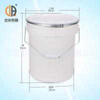 厂家直销20L直身带箍硅胶桶 20KG有机硅塑料包装桶 涂料桶