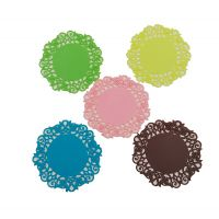 pvc硅胶创意杯垫定制厂家  可爱镂空圆形碗垫滴胶 餐垫加工定做