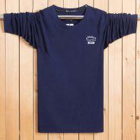 新款特价秋季男士长袖t恤上衣加肥加大码纯棉圆领宽松秋衣打底衫