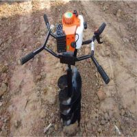 单人操作种树挖坑机?山地丘陵电线杆挖坑机 果园施肥种植机