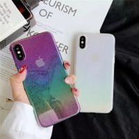 立体水珠彩虹透明壳苹果X手机壳iphone7plus/8/6S全包硬壳女款潮
