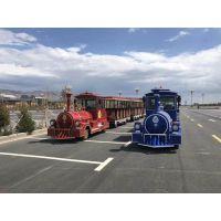 仿古无轨小火车游乐设备旅游景区儿童电动观光车广场室外游览车