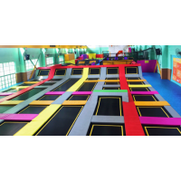 大型超级蹦床公园厂家 定制设计安装PVC弹跳性跳床 奇缘大冒险儿童游乐设备价格