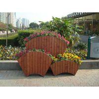 厂家直销 防腐木景区公园垃圾箱垃圾桶 实木花箱花箱