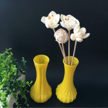 时尚创意家居桌面花瓶彩色透明玻璃螺纹花瓶插花水培花瓶客厅桌面摆件小号彩色花瓶 装饰品花瓶厂家