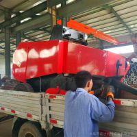 青储机 鲜玉米秸秆收割粉碎打捆机 现场操作视频