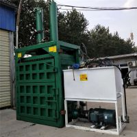 天津立式废纸液压打包机 编织袋液压打包机 普航380V电压立式压包机