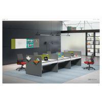 新澳办公家具 4人位职员办公桌椅 隔断办公桌 实木屏风办公桌