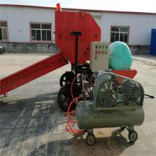豆杆玉米秸秆打捆包膜机 润丰 全自化牛场内用捆扎机
