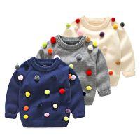 童装一件代发新品儿童针织套头衫中小童毛球毛衣速卖通批发