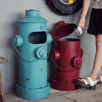JSHCY美式复古怀旧铁皮邮筒垃圾桶家居装饰摆件酒吧咖啡厅会所摆