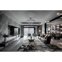 重庆长嘉汇|四居室|现代极简装修|实景案例图