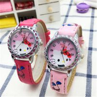 热销外贸爆款工厂批发kt猫手表 HELLO KITTY女性女孩学生卡通手表
