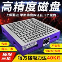 强力磁盘CNC铭磁超强力永磁吸盘电脑锣雕铣机高精度方格磁性磁台