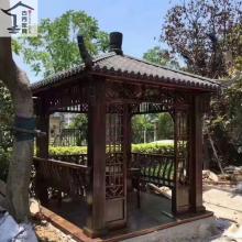 【花园小区景观实木凉亭】定制四角凉亭广州厂家