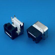 USB TYPE C母座 加高型 16PIN DIP脚 CL=6.75mm L=9.75mm成品