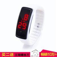 学生韩版手环儿童手表情侣电子表男女LED手表触控夜光