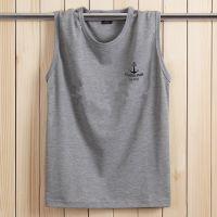 新款特价无袖T恤男运动夏季胖子汗背心加肥加大码打底衫男宽松