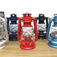 老式复古煤油灯 手提户外野营灯 金属露营灯玻璃马灯创意家居装饰