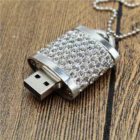 新款创意爱心珠宝锁u盘水晶珠宝镶钻礼品u盘定制创意礼品u盘16g32g内存