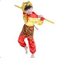 儿童模仿服装西游记孙悟空悟空舞台剧场活动演出服小孩表演艺戏