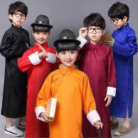 朗诵儿童相声大褂长袖民国长衫相声诗歌中式长袍表演演出服