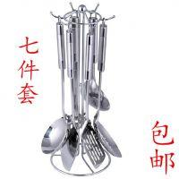 厨具套装烹饪工具不锈钢七件套锅铲套装炊具炒勺铲子汤勺全套