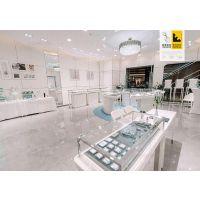 天津融润展柜厂家定制不锈钢拉丝商场手链珠宝展示柜设计