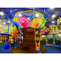 北京凯思游乐彩虹攀爬网蜂巢网游乐设施彩虹网绳游乐设备体能拓展广场幼儿园可加工定做