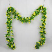 装饰花藤塑料婚庆绿叶植物藤条吊顶仿真紫罗兰藤蔓壁挂管道绢花植
