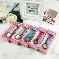 Hello Kitty KT凯蒂猫点钻皮革手表腕表儿童表时装表(厂家直销)