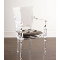 博卡伦5-854简约轻奢透明水晶婚庆用椅亚克力餐椅