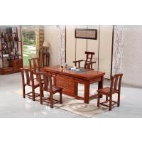 1.8米茶台实木茶几仿古茶桌椅组合榆木茶台简约功夫泡茶桌配套椅 修改