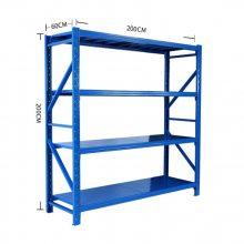 江西货架厂制造中型布料货架/重层板调节货架/格网货架/中型货架