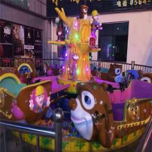 室内商场游乐场儿童玩水设备小熊戏水游乐设施豪华轨道火车